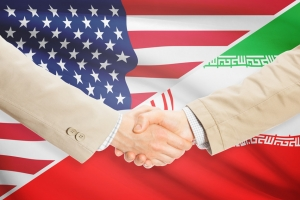 Businessmen shaking hands - United States and Iran