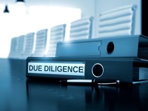 Due Diligence - Business Concept on Toned Background. Due Diligence. Business Concept on Blurred Background. Toned Image. 3D.